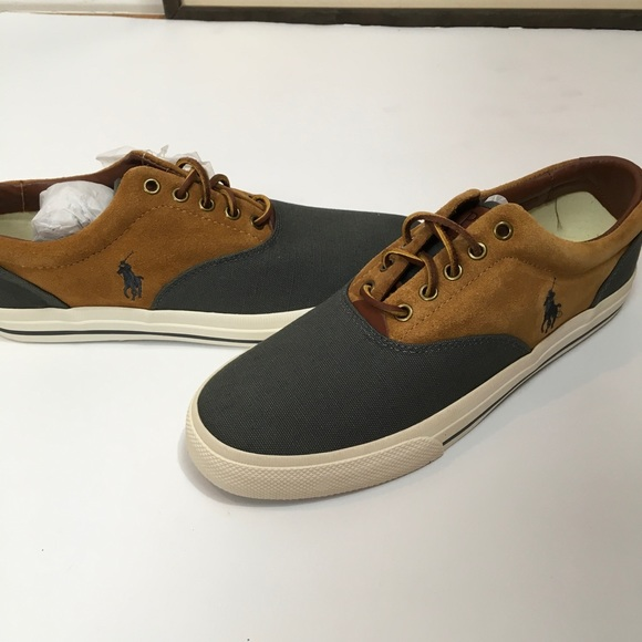 Other - NIB POLO Ralph Lauren canvas & suede sneakers